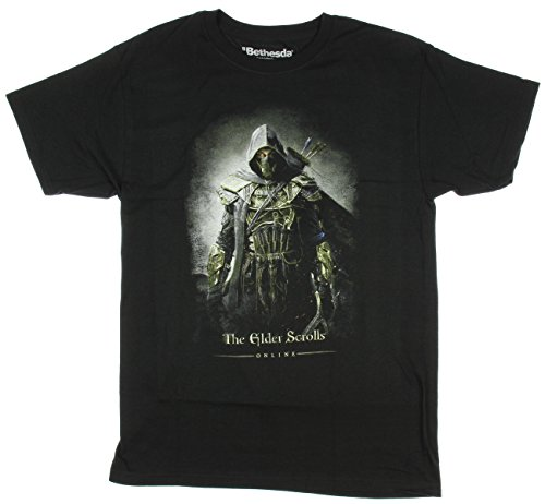 Bewild Official Bethesda Elder Scrolls Online Archer Mens T-shirt (Small) (T-shirt Scroll)