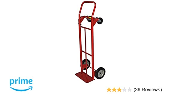 Milwaukee Hand Trucks 42152 Convertible Truck with 8-Inch Puncture Proof  Tires