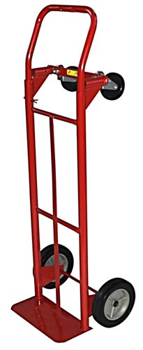 Milwaukee Hand Trucks 42152 Convertible Truck with 8-Inch Puncture Proof Tires 600 Lb Capacity Hand Truck
