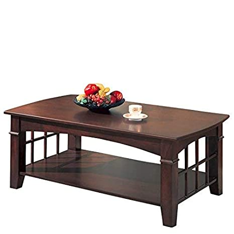 Superb Coaster Home Furnishings Abernathy Rectangular Coffee Table With Shelf Merlot Camellatalisay Diy Chair Ideas Camellatalisaycom