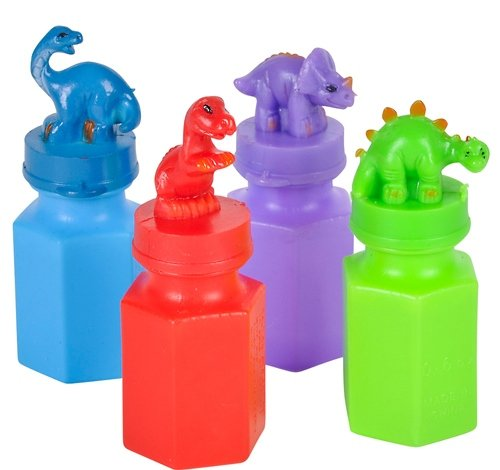 3'' DINOSAUR BUBBLE BOTTLE, Case of 216 by DollarItemDirect