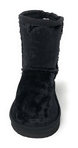 Simple Velvet Petals Black Girl's Cozy Boot Winter Warm Shearling wOzrxw
