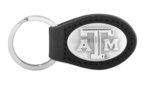 NCAA Texas A&M Aggies Zep-Pro  Leather Concho Key Fob, Black