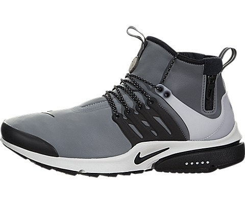 Nike Men Air Presto Utility Mid Top Cool Grey Black Off White Volt Size 8 0 Us