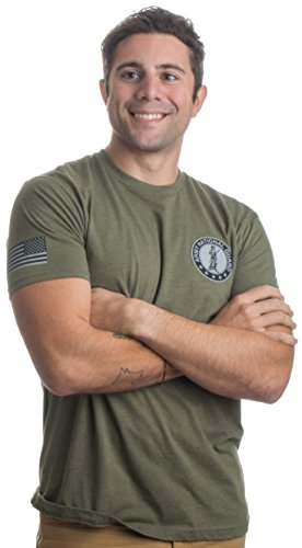Army National Guard   Sleeve Flag   United States Military Us Veteran T Shirt  Od Green L