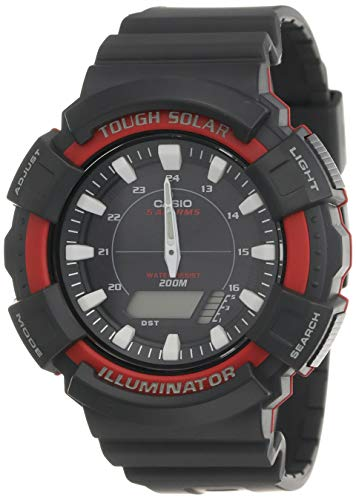 Casio For Men Ana-Digi Black Dial Resin Band Watch - Ad-S800Wh-4A, Grey Band, Analog Display