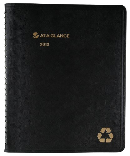 AT-A-GLANCE Recycled Monthly Planner, 6 x 9 Inches, Black, 2013 (70-120G-05) 2013 Large Monthly Planner