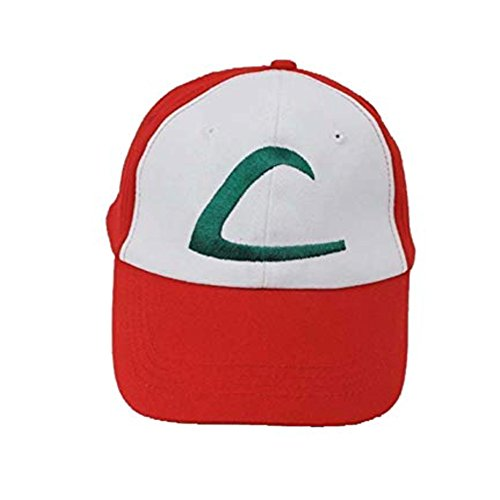 Noshi Outdoor Embroidered Ash Ketchum Baseball Hat - Adjustable Pokemon Cosplay Unisex Cap with Stitch Logo