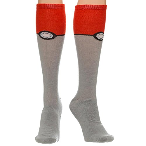 Pokemon-Pokeball-Knee-High-Socks