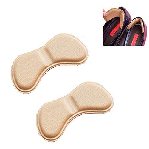 Vabneer 3 Paar Schuhe Fersenschutz Einlegesohlen HighHeels Fersenhalter Kissen Fuß Schutz Fußballen (Schmetterling Hautfarbe)