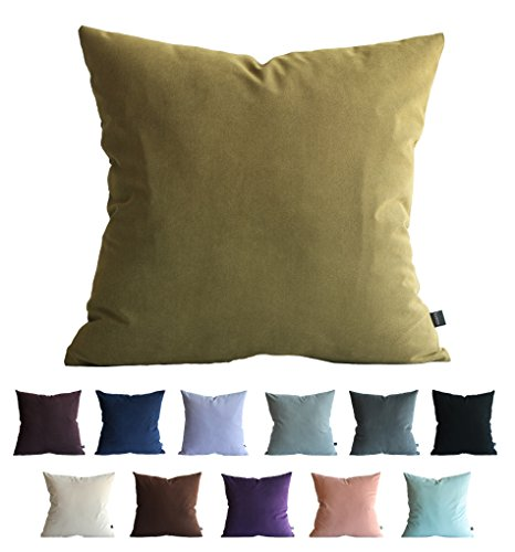 Kdays Faux Suede Olive Green Pillow Cover Throw Pillow Cover