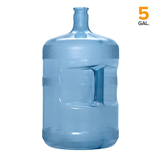- 5 Gallon PC Plastic Crown Cap Water Bottle Container Reusable Jug (Made in USA)