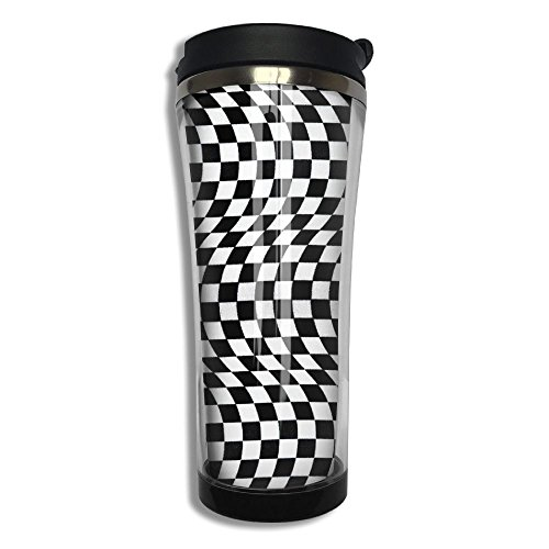 Black And White Checkered Flag 420ml Stainless Steel Vacuum