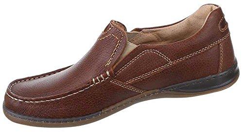 Herren Schuhe stiefel stiefeletten Leder Mokassins Braun