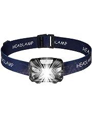Led-koplamp, led-hoofdlamp, USB-oplaadbaar, waterdicht, IR-bewegingssensor, 300 lumen, IPX4 waterdicht, geschikt voor hardlopen, kamperen, wandelen