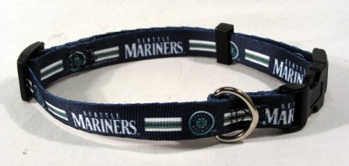 Hunter MFG Seattle Mariners Dog Collar, Extra Small