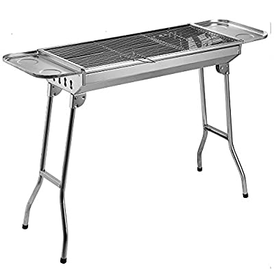 Fold Barbecue Charcoal Grill Stove Stainless Steel Portable Folding Charcoal BBQ Grill from cooligg