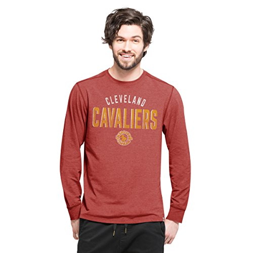 NBA Cleveland Cavaliers Men's '47 Forward Long Sleeve Tee, Shift Cardinal, Medium