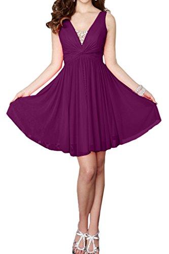 Missdressy - Vestido - plisado - para mujer morado 60