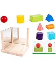 TOYANDONA 1 set van houten bijpassende blok puzzels gebouw kubussen speelgoed spiegel blokken speelgoed bordspellen ouder- Chilld interactief speelgoed educatief Montessori speelgoed