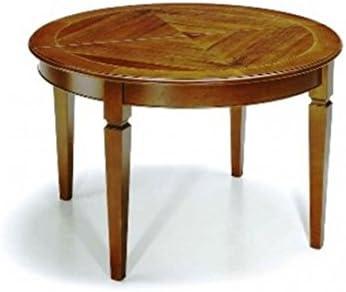 Progetto Tavolo Allungabile Legno.Estea Mobili Tavolo Allungabile Ovale Rotondo Legno Massello