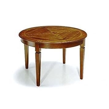 Esteamobili Table Extensible Ovale Rond Bois Massif Comme Photos