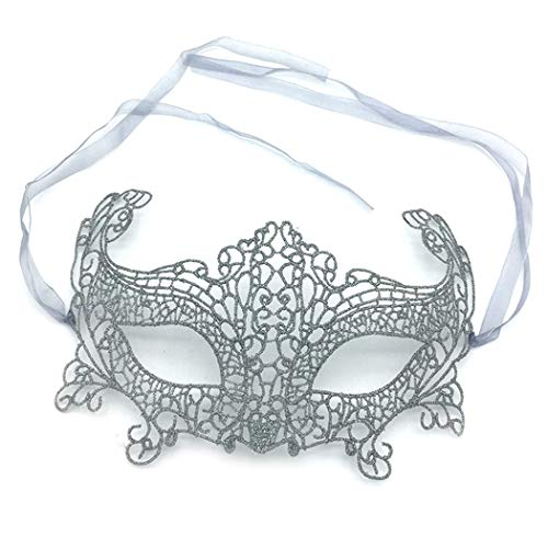 (iMapo Masquerade Masks, Women Girl Lace Eye Mask, Opera Halloween Dancing Evening Party Elegant Mardi Gras Lady Eye Mask - Fox)