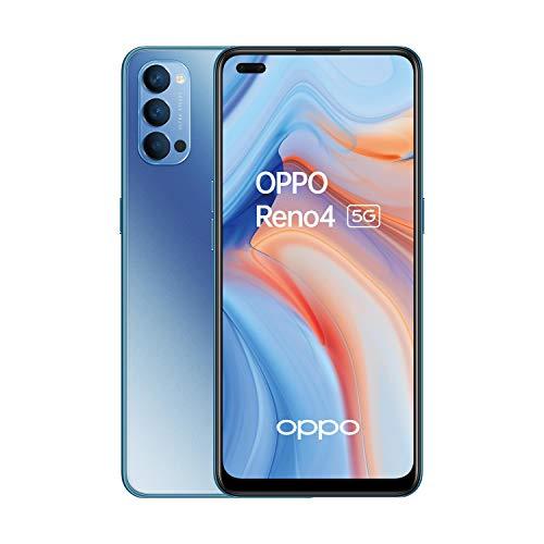 OPPO Reno4 5G Dual-SIM 128GB ROM + 8GB RAM (GSM Only | No CDMA) Factory Unlocked Android Smartphone (Space Black) - International Version