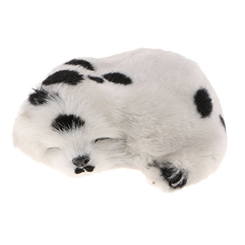 (Simulation Sleeping Napping Lifelike Plush Dog Puppy Collectable Toy - Spotty)