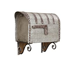 """Your Heart's Delight 16.25 x 10 x 19"""" Vintage Style Iron Mailbox"""