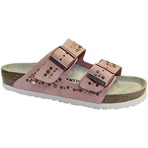 (Birkenstock Womens Arizona Rose Nubuck Sandals 39 EU)