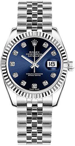 Rolex Datejust 31 Blue Diamond Dial Women's Watch Ref. 178274