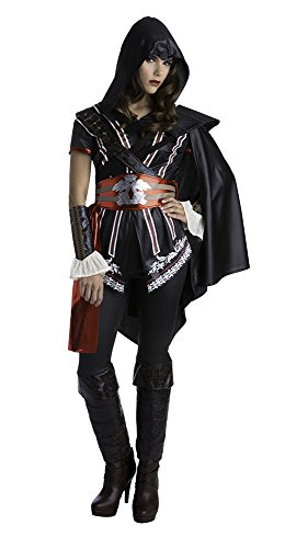 Palamon Women's Assassin's Creed Sassy Ezio Classic Costume, Black, Small (Assassin Halloween Costumes)