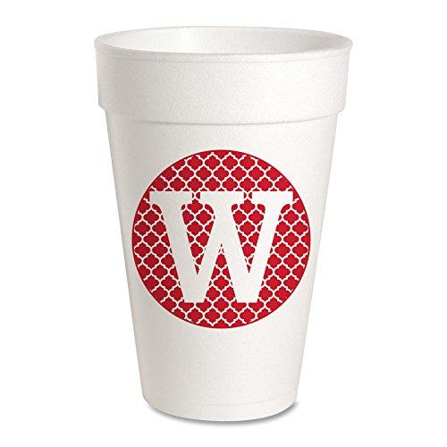 Personalized (A-Z) Foam Party Cups - Styrofoam 16oz