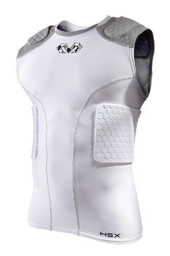 McDavid Youth Hex 5-Pad Sleeveless Shirt, White/Grey, -