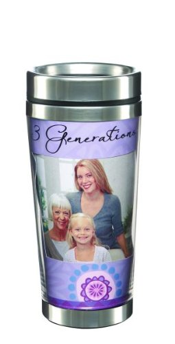 3 Generations Double Walled Photo Travel Mug - Ganz Insulated Travel Mug (Ganz Mugs Travel)