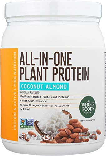 Whole Foods Market, All-In-One Plant Protein, Coconut Almond, 15 oz