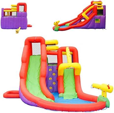 弾力がある城スポーツおもちゃ子供の弾力がある城家庭いたずらなトランポリン夏の遊び場水スライド幼稚園スポーツトランポリン環境に優しい材料