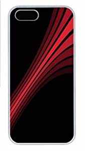 Hot iPhone 5S Customized Unique Print Design Red Stripes 2 New Fashion PC White iPhone 5/5S Cases by lolosakes