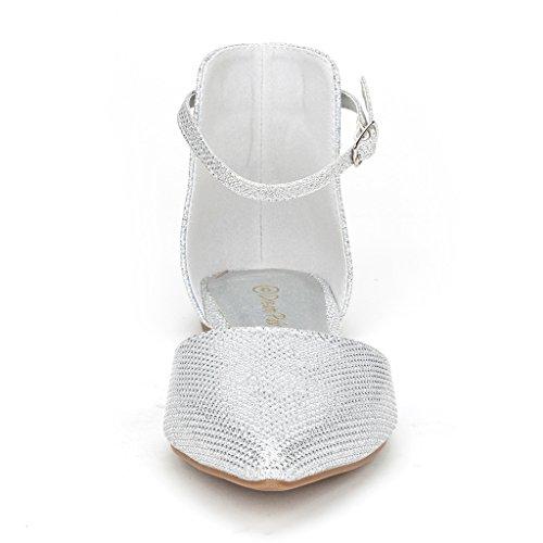 DREAM PAIRS FLAPOINTED Frauen Casual D'Orsay wies Plain Ballett Comfort Soft Slip auf Wohnungen Schuhe neu Knöchelsilber