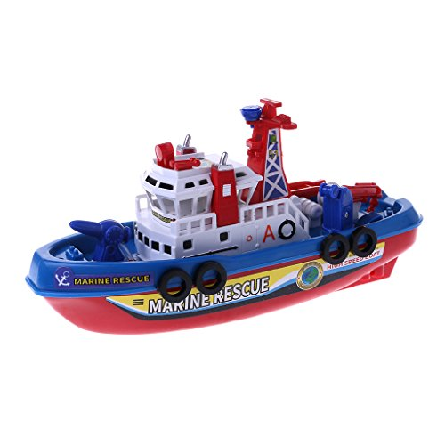 Forgun Fast Speed Music Light Electric Marine Rescue Fire Fighting Boat Toy for Kids