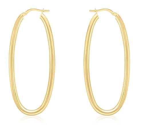 Carissima Gold - 1.51.0809 - Boucles d'oreille Femme - Or Jaune 375/1000 (9 Cts) 4.7 Gr - Verre