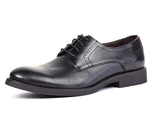 RAINSTAR Mens Retro Wing-Tip Brogue Shoes Classic Lace Up Dress Oxfords Black