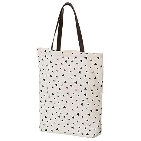 Bolsa de Tela con Asas, de Color Blanco y Negro. Diseño ...