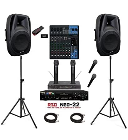 Complete Karaoke System Bluetooth Active Speakers Neo 22 Pro Machine