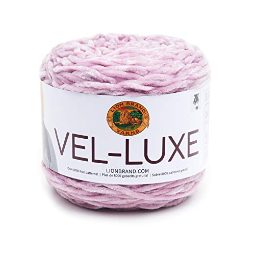 Lion Brand Yarn 536-144 Vel-Luxe Yarn, One Skein, Lilac
