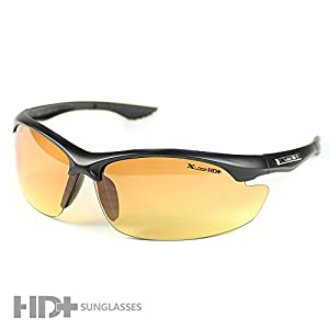 Mens Sports X-Loop Sunglasses HD High Definition Clarity Lenses Black XHD3303