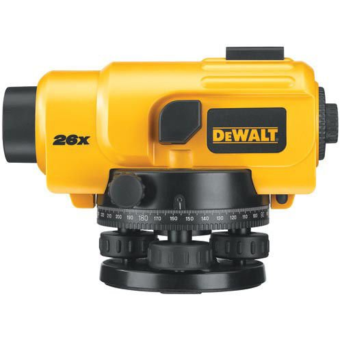 DEWALT DW096PK 26X Automatic Optical Level Kit with Tripod, Rod, and Carrying Case