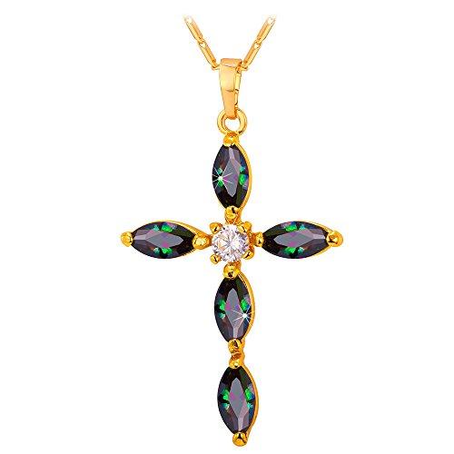 Cross Pendant Chain Zirconia Necklace