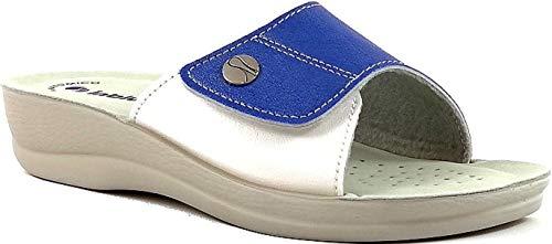 Vr45 Jeans Donna Aperte Ciabatte Regolabili Velcro Pantofole Inblu Art fOpTn7wq